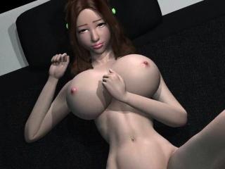 voluptuous anime hottie gets pink twat rammed hard