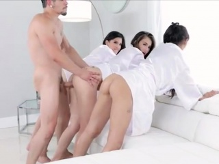 spa day and a freeform fuck with three sexy chicks