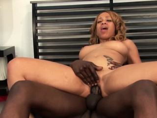 black dude got lucky with a beautiful chick