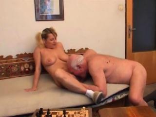 pretty dilettante slut enjoys 69 and rides old dude wildly