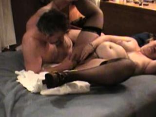 nasty brunette girl in stockings fingering