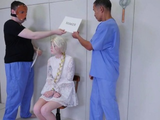 slutty cutie is brought in butthole asylum for awkward thera