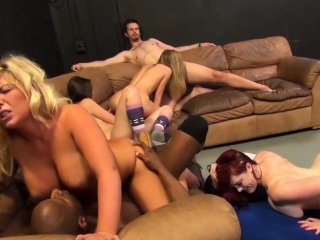 stunning chicks enjoy fucking on the couch