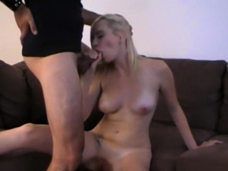skinny blonde amateur fucked and creampied by a big dick