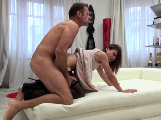 petite brunette gets her tight ass fucked by big cock