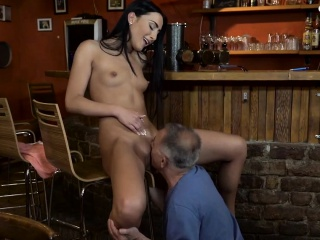 daddy4k old and young lovers have fun when athletic boy
