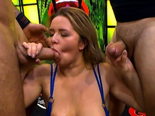 busty blonde nikky dream gets banging with facials