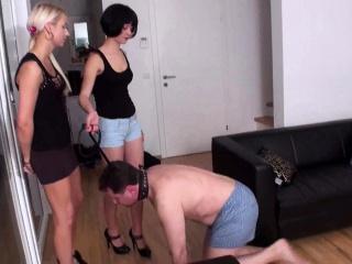 femdom ladies enjoy to dominate slaves