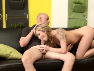 daddy4k beautiful girl nicely fucked on sofa in old