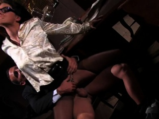 hardcore toy play with horny lesbo babes in white satin
