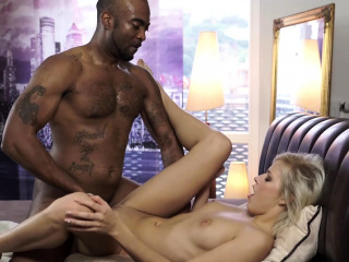 black4k amazing interracial porn of petite blonde and