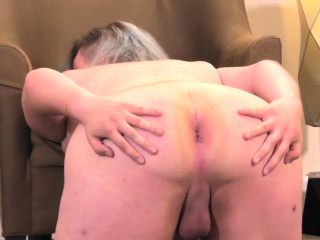 shy shemale gets naked and shows her butt
