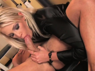 blonde girl gets her shaved pussy banged