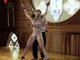 horny lady enjoys hardcore bondage sex