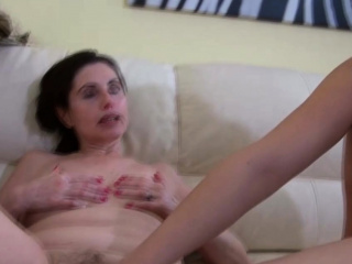 mature granny loves to fuck hard with dildo