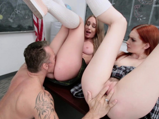 teamskeet two horny coeds anal fucked during detention