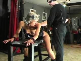 bondage action with a guy who gets tortured by mastix
