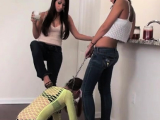 sub slave gets whipped hard untill arse red by mistress