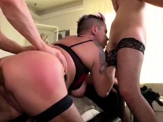 big tits pornstar threesome with facial