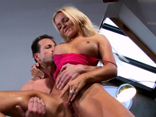 slutty milf jenna lovely gets an anal creampie and eats it
