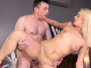 daddy4k dad and young girl enjoy anal sex near his
