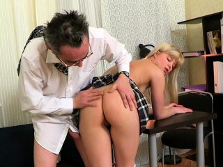 playgirl is having wild threesome with chap and old teacher