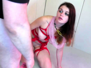 extreme bondage of 18yo trained slave in bdsm saloon