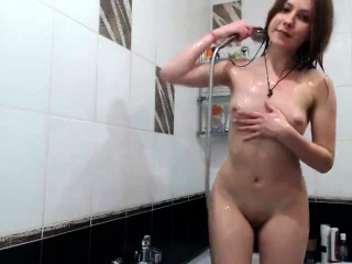 asian small titty brunette rubbing her clit on webcam
