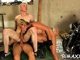 Homosexual boys anal fucking in bi raunchy fuck fuckfest