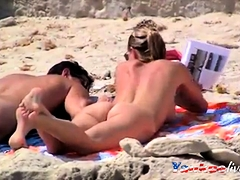 Nude Beach - Hot Big Boob Blond
