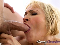 Mature granny has anal sex