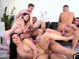 Studs fucking hunks and babes in bi orgy