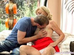 Classy grandma lusting for young cock