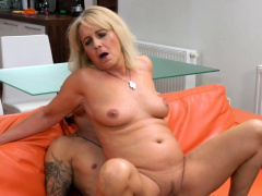 Granny with nice tits pussy rammed