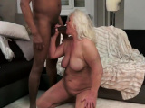 Interracial fuck action with granny