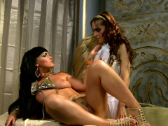 Egyptian lezdom queen toys subs pussy