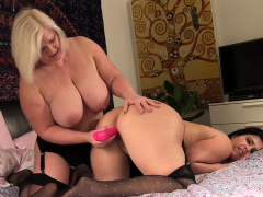 Granny lesbian toys milf in all directions stockings