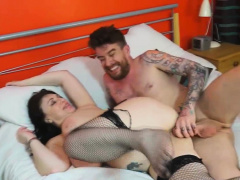 Luke Hotrod cums in the first place Sabrina's gigantic boobs