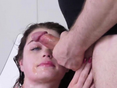 Nasty chick was brought in asshole nuthouse for painful trea