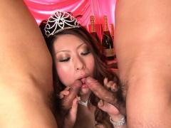 Japanese babe, Yuka Kurosawa sucks cocks, uncensored