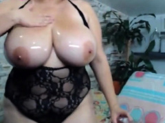 Amazing filthy Oiling tits