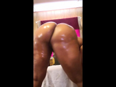 Such a fat black cock in her tight fat ass