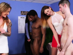 Euro mistresses tugging and jerking