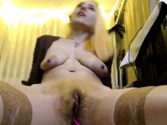 lovely girl fingerfucking her hairy pussy