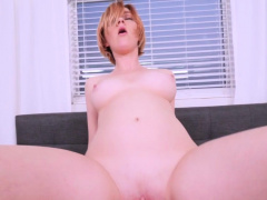 Kinky redheaded cougar takes big dick