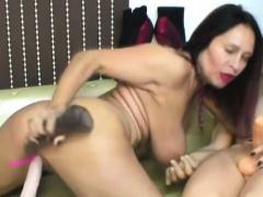 columbian milf fucks her boy doll on cam and loving it