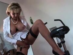 Unfaithful british milf gill ellis shows her oversized breas