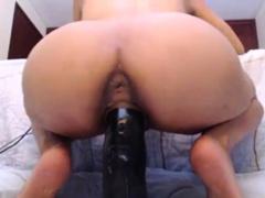 Latina Riding BBC Dildo With Asshole Showing