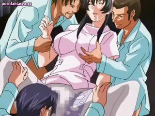 amazing anime nurse gets banged