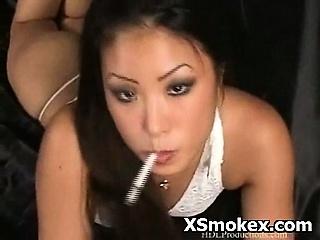 hot busty woman fetish smoking nasty